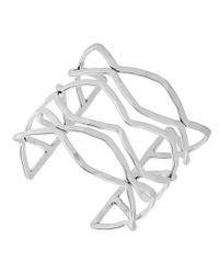 Lucky Brand - Metallic Wavy Open Cuff Bracelet - Lyst