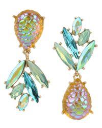 Betsey Johnson - Multicolor Pineapple Mismatch Earrings - Lyst
