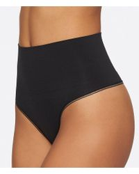 Yummie - Black Seamless Shaped Thong - Lyst