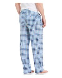 Tommy Bahama - Blue Plaid Knit Pajama Pants for Men - Lyst