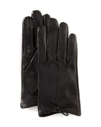 Dillard's Black Ladies' Contrast Bow Gloves