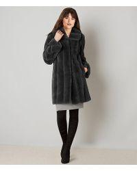Jones New York - Multicolor Shawl Collar Faux Fur Walker Coat - Lyst