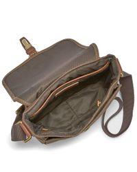 Fossil - Blue Davis Canvas Small Tablet Messenger Bag for Men - Lyst