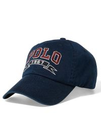 Polo Ralph Lauren | Blue Signature Sports Cap for Men | Lyst