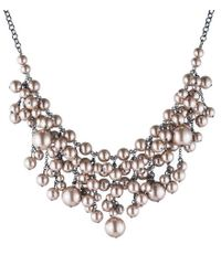 Carolee - Pink Queen Of Gems Faux-pearl Statement Necklace - Lyst