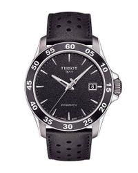 Tissot - V8 Men's Black Leather Strap Mechanical Automatic Watch for Men - Lyst