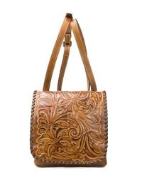 Patricia Nash - Metallic Burnished Tooled Collection Granada Cross-body Bag - Lyst