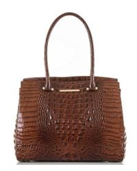 Brahmin - Brown Melbourne Collection Alice Work Tote - Lyst