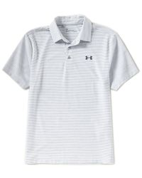 Under Armour - Gray Golf Rough Stripe Playoff Polo Shirt for Men - Lyst