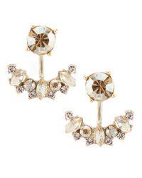 Marchesa Metallic Stone Floater Earrings