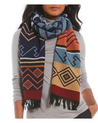 Pendleton - Multicolor Peaceful Ones Fringed Wool Jacquard Muffler - Lyst