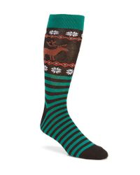 Hot Sox - Black Reindeer Non-skid Crew Socks - Lyst