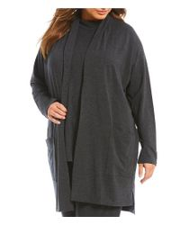 Eileen Fisher - Gray Plus Kimono Cardigan - Lyst