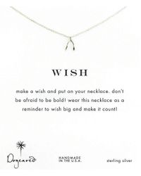 Dogeared - Metallic Wishbone Delicate Necklace - Lyst