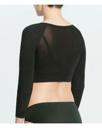 Spanx Black Cable Knit Arm Tights