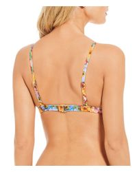 Antonio Melani - Red Meadow Melody Small Halter Bralette Bikini Swimsuit Top Made With Liberty Fabrics - Lyst