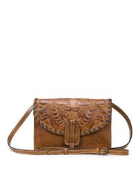 Patricia Nash   Metallic Burnished Tooled Collection Lanza Convertible Cross-body Bag   Lyst
