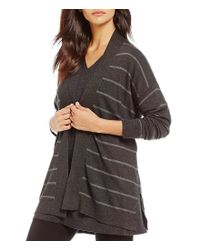 Eileen Fisher - Gray Shaped Cardigan - Lyst