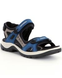 Ecco - Blue Yucatan Sandals for Men - Lyst