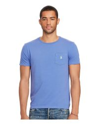 Polo Ralph Lauren | Blue Big & Tall Classic-fit Jersey Pocket Crewneck Tee for Men | Lyst