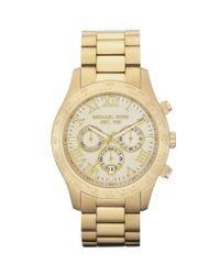 Michael Kors | Metallic Layton Sport Stainless Steel Chronograph Bracelet Watch | Lyst
