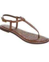 Sam Edelman | Brown Gigi T-strap Sandals | Lyst