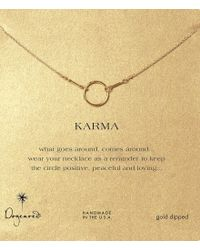 Dogeared | Metallic Original Karma Dipped Sterling Silver Delicate Necklace | Lyst