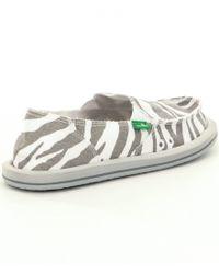 Sanuk - Multicolor I´m Game Zebra-print Slip-on Shoes - Lyst