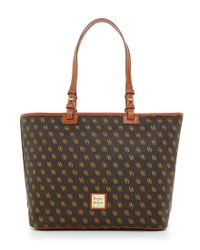 Dooney & Bourke Brown Leisure Shopper