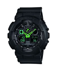 G-Shock | Black Neon Highlights Ana-digi Stainless Steel And Resin Strap World Time Watch for Men | Lyst