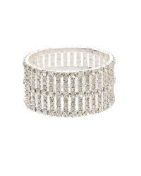 Cezanne | Metallic Rhinestone Stretch Bracelet | Lyst