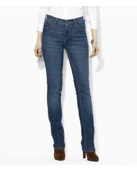Lauren by Ralph Lauren | Blue Lauren Jeans Co. Super Stretch Slimming Classic Straight Jeans | Lyst