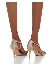 Pelle Moda - Gray Ruby Metallic Strappy Dress Sandals - Lyst