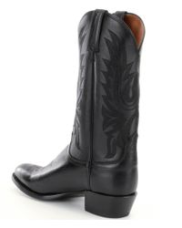 Lucchese | Black Since 1883 Leather Lone Star Calf Western Boots for Men | Lyst