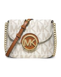 MICHAEL Michael Kors | Gray Fulton Signature Small Cross-body Bag | Lyst
