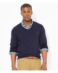 Polo Ralph Lauren | Blue Slim-fit Pima Cotton Sweater for Men | Lyst