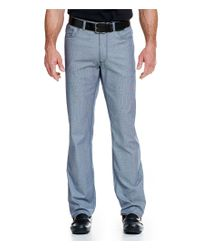 Vince Camuto | Blue Slim-fit Flat-front 5-pockets Stretch Pants for Men | Lyst