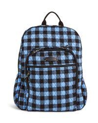 Vera Bradley - Blue Campus Backpack - Lyst
