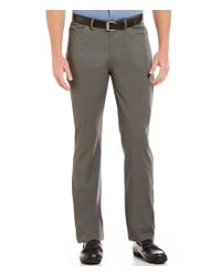Vince Camuto | Gray Slim-fit Flat-front Chino Pants for Men | Lyst