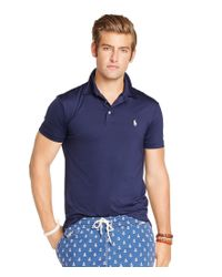 Polo Ralph Lauren   Blue Performance Lisle Polo Shirt for Men   Lyst