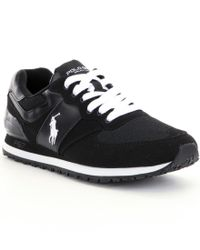 Polo Ralph Lauren | Black Slaton Pony Casual Sneakers for Men | Lyst