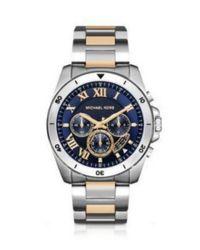 Michael Kors | Metallic Men ́s Brecken Two-tone Chronograph Watch for Men | Lyst
