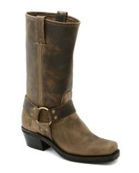 Frye | Brown Harness 12r Leather Square-toe Boots | Lyst