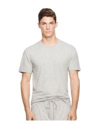 Polo Ralph Lauren | Gray Jersey Crewneck T-shirt for Men | Lyst