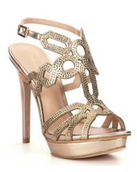 Pelle Moda | Metallic Faine2 Platform Dress Sandals | Lyst