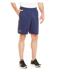 Under Armour | Blue Qualifier Woven Shorts for Men | Lyst