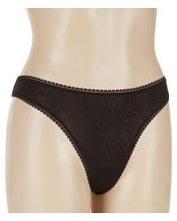 On Gossamer - Black Mesh Thong - Lyst
