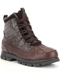 Polo Ralph Lauren | Brown Delton Waterproof Boots for Men | Lyst