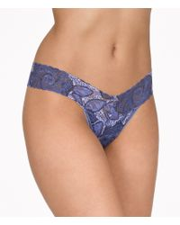 Hanky Panky | Blue Indigo Rose Signature Lace Low-rise Thong | Lyst