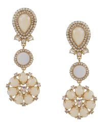 kate spade new york | Metallic At First Blush Mother Of Pearl Drop Earrings | Lyst